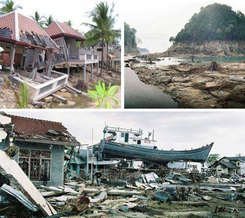 زلزله شهر سوماترا در اندونزی – شدت 9.1 ریشتر – 26 دسامبر 2004