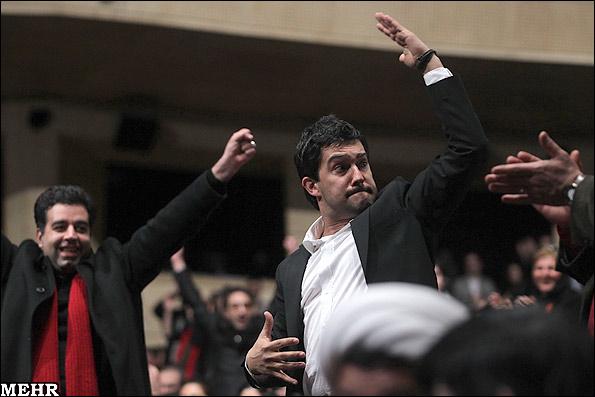 عکس: واکنش جالب بهداد بهنگام اعلام نامش بعنوان برنده