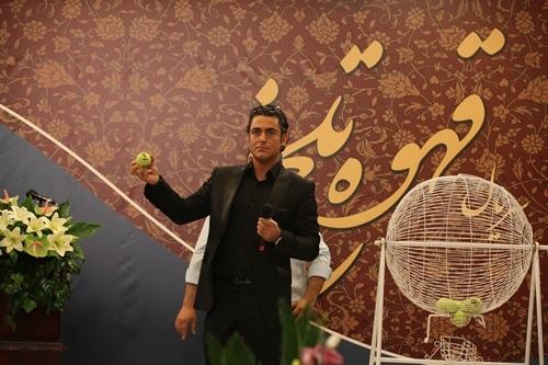 محمد رضا گلزار در مراسم قرعه کشی قهوه تلخ! (+عکس)