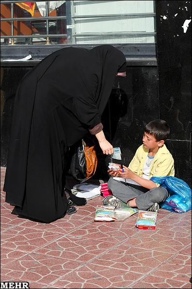 کودکان فراموش شده شهر (عکس)