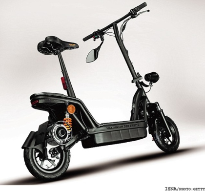 موتور سیکلت الکتریکی تاشو! +عکس