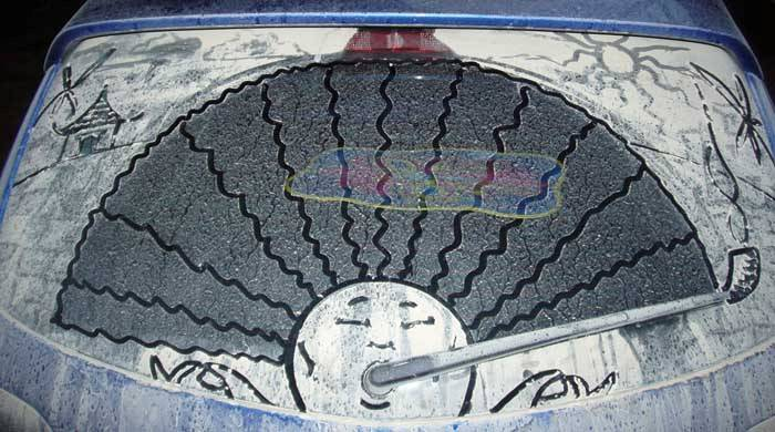 هنرنمایی روی ماشین های کثیف! (عکس) | www.Alamto.Com