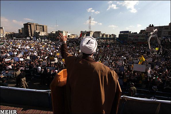 عکس های راهپیمایی مردم تهران در اعتراض به حوادث 25 بهمن | www.Alamto.Com