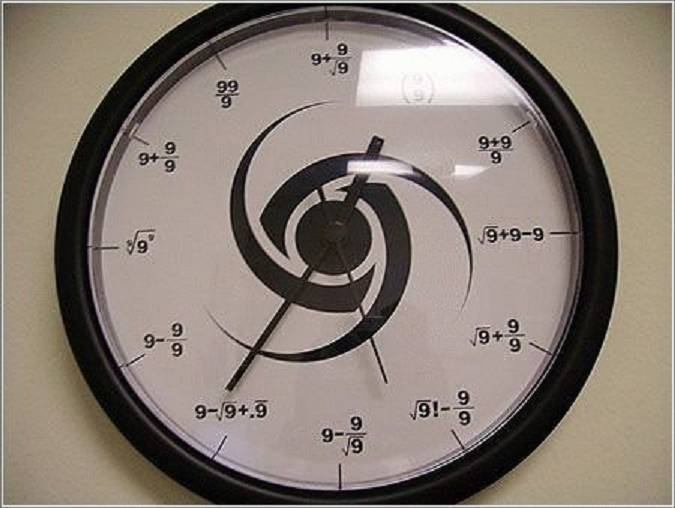 ساعتی که فقط عدد 9 دارد... !