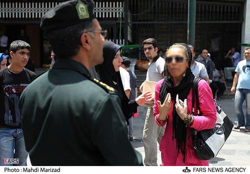 عکس هایی از مبارزه با بدحجابی در تهران! | www.Alamto.Com