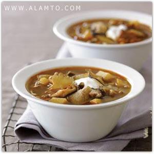 طرز تهیه سوپ قارچ و سيب زميني