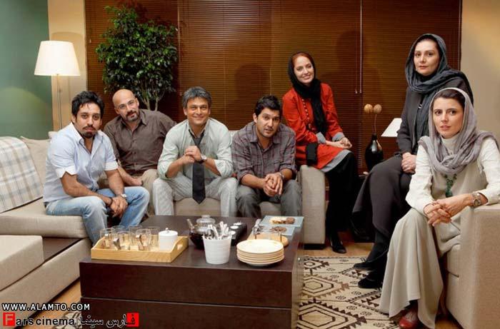 عکس یادگاری مهناز افشار,حامد بهداد,لیلا حاتمی و روزبه نعمت الهی