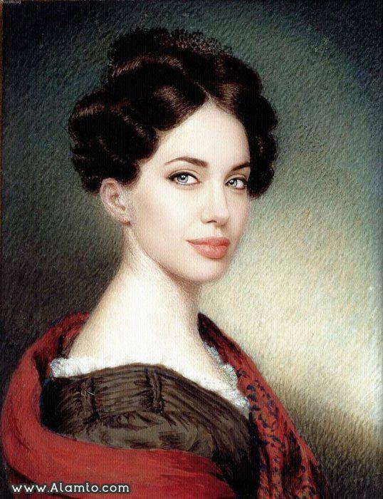 عکس بازیگران معروف هالیود در قالب نقاشی های کلاسیک قدیمی