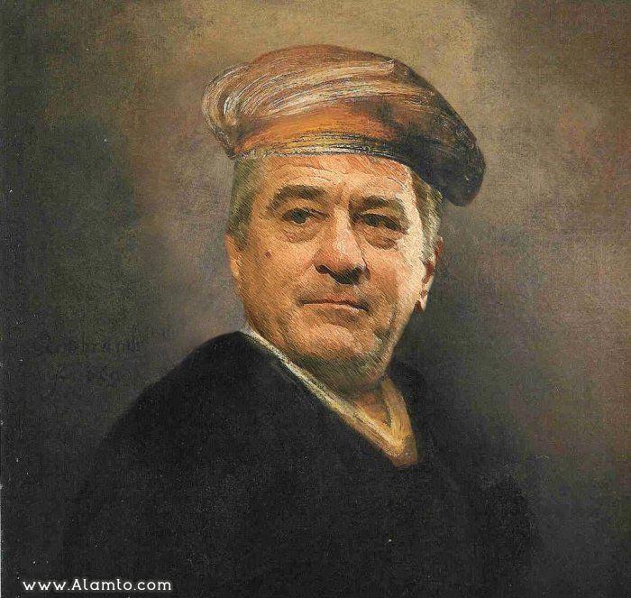 عکس بازیگران معروف هالیود در قالب نقاشی های کلاسیک قدیمی - عکس Robert De Niro