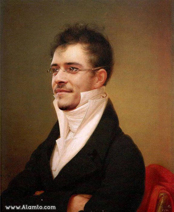 عکس بازیگران معروف هالیود در قالب نقاشی های کلاسیک قدیمی - عکس Orlando Bloom