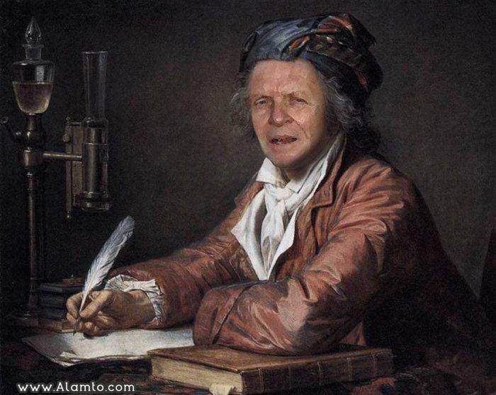 عکس بازیگران معروف هالیود در قالب نقاشی های کلاسیک قدیمی - عکس Anthony Hopkins