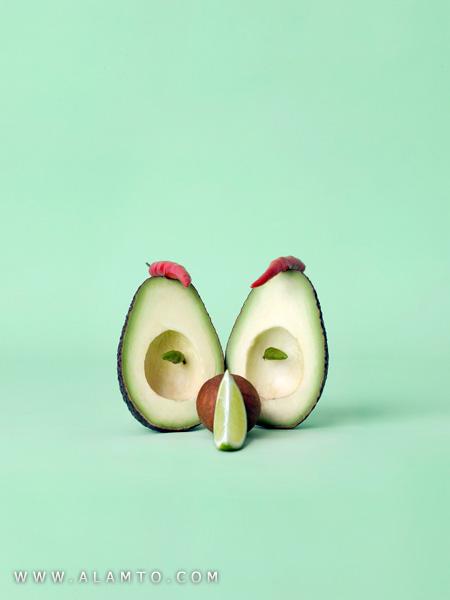 هنرنمایی فوق العاده قشنگتر با مواد غذایی
