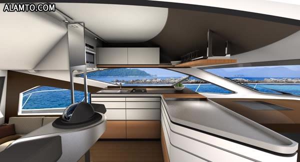 قایق فوق العاده قشنگتر و لوکس Intermarine 55 - تصاویر