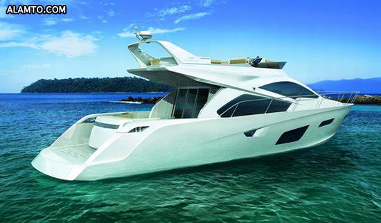 قایق فوق العاده زیبا و لوکس Intermarine 55 - تصاویر