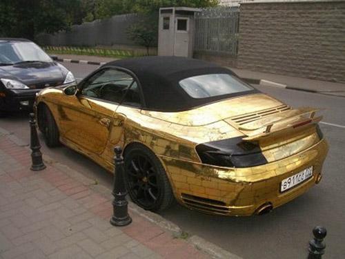 عکس های خودرو پورشه ساخته شده از طلا | www.Alamto.Com