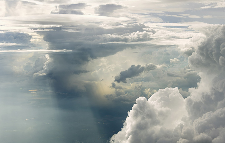 عکس : ابرهای فوق العاده زیبا