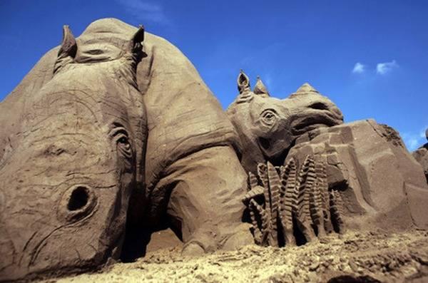 مجسمه های شنی فوق العاده زیبا