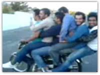 کلیپ خنده دار ایرانی موتور سواری 6 نفری