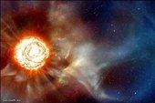 انفجار دومین ستاره بزرگ جهان سال 2012