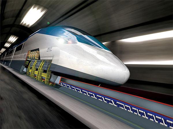 قطاری سریعتر از هواپیما (+عکس)