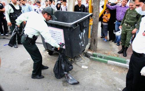 کشف جسد مثلهشده در سطل زباله +عکس