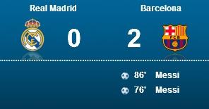 باخت رئال مادرید در برابر بارسلونا در دیدار رفت