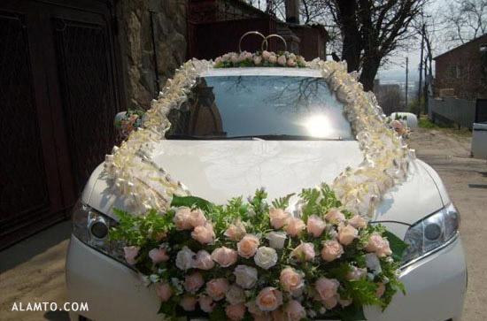 عکس تزیین ماشین عروس