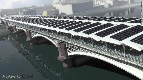 شروع ساخت بزرگترین پل خورشیدی جهان