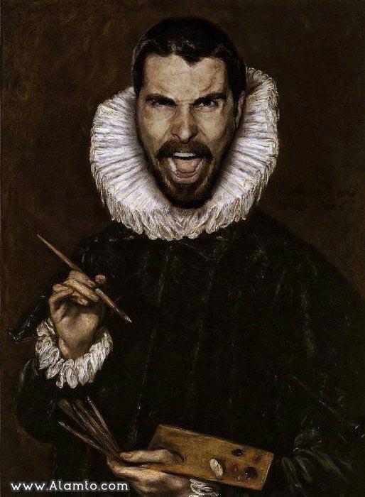 عکس بازیگران معروف هالیود به شکل نقاشیای سنتی قدیمی - عکس Christian Bale