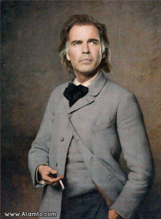 عکس بازیگران معروف هالیود به شکل نقاشیای سنتی قدیمی -عکس Jeff Fahey