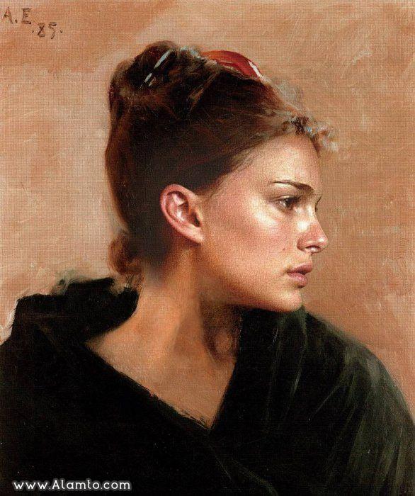 عکس بازیگران معروف هالیود به شکل نقاشیای سنتی قدیمی - عکس Natalie Portman