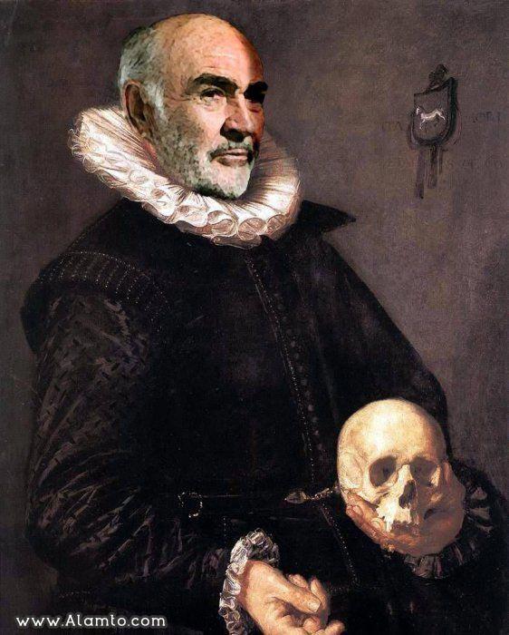 عکس بازیگران معروف هالیود به شکل نقاشیای سنتی قدیمی -عکس Sean Connery