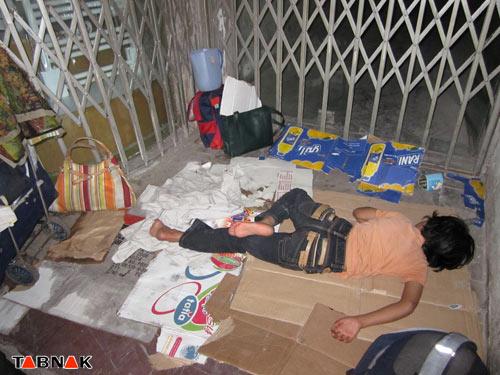تصاویر و عکس از فقیران بی خانمان تهران