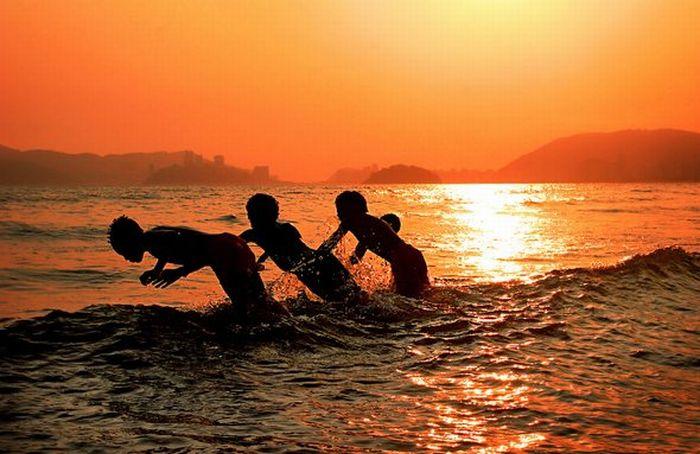 عکس های زیبا و هنری از غروب آفتاب