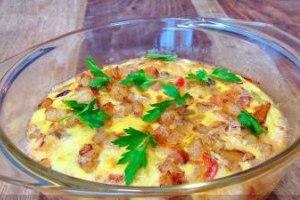 دستور پخت کوکوی مرغ و سبزیجات